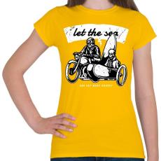 PRINTFASHION Irány a tenger! - Női póló - Sárga