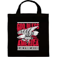 PRINTFASHION Isten Áldjon Amerika - Vászontáska - Fekete