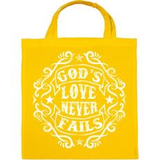 PRINTFASHION Isten szeretete sose múlik el - Vászontáska - Sárga