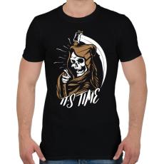PRINTFASHION Itt az idő - Férfi póló - Fekete