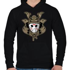 PRINTFASHION Jason a szamuráj  - Férfi kapucnis pulóver - Fekete