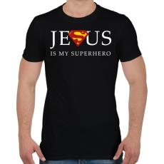 PRINTFASHION Jesus - Férfi póló - Fekete