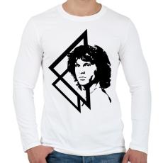 PRINTFASHION Jim Morrison - Férfi hosszú ujjú póló - Fehér