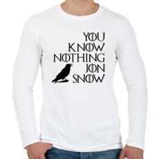 PRINTFASHION JON SNOW - Férfi hosszú ujjú póló - Fehér