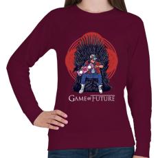 PRINTFASHION Jövő játéka - Női pulóver - Bordó