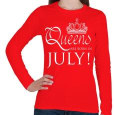 PRINTFASHION Július - Női hosszú ujjú póló - Piros