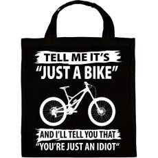 PRINTFASHION Just a bike - Vászontáska - Fekete