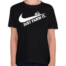 PRINTFASHION Just farm it - Gyerek póló - Fekete
