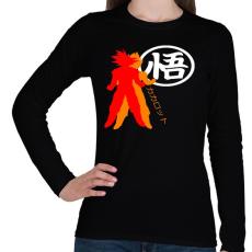 PRINTFASHION Kakarotto - Női hosszú ujjú póló - Fekete