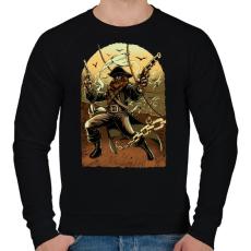 PRINTFASHION Kalóz - Férfi pulóver - Fekete