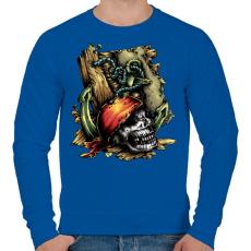 PRINTFASHION Kalóz - Férfi pulóver - Királykék