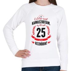 PRINTFASHION kamasz-25-black-red - Női pulóver - Fehér