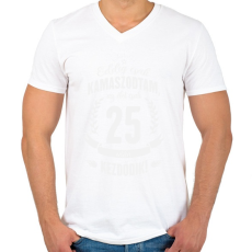 PRINTFASHION kamasz-25-white - Férfi V-nyakú póló - Fehér