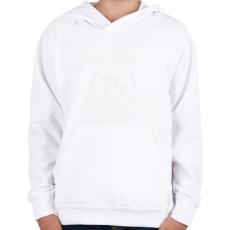 PRINTFASHION kamasz-25-white - Gyerek kapucnis pulóver - Fehér