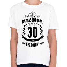 PRINTFASHION kamasz-30-black - Gyerek póló - Fehér