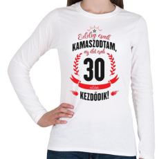 PRINTFASHION kamasz-30-black-red - Női hosszú ujjú póló - Fehér