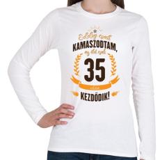 PRINTFASHION kamasz-35-brown-orange - Női hosszú ujjú póló - Fehér