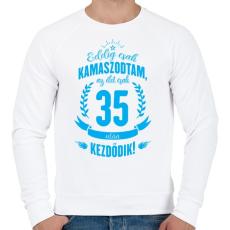 PRINTFASHION kamasz-35-cyan - Férfi pulóver - Fehér