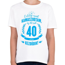 PRINTFASHION kamasz-40-cyan - Gyerek póló - Fehér