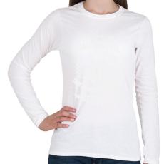 PRINTFASHION kamasz-40-white - Női hosszú ujjú póló - Fehér