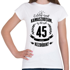 PRINTFASHION kamasz-45-black - Női póló - Fehér