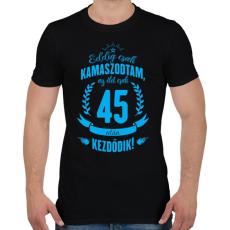 PRINTFASHION kamasz-45-cyan - Férfi póló - Fekete