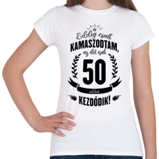 PRINTFASHION kamasz-50-black - Női póló - Fehér