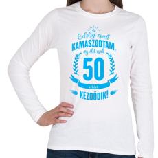 PRINTFASHION kamasz-50-cyan - Női hosszú ujjú póló - Fehér