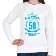 PRINTFASHION kamasz-50-cyan - Női pulóver - Fehér