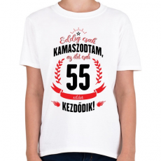 PRINTFASHION kamasz-55-black-red - Gyerek póló - Fehér