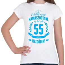 PRINTFASHION kamasz-55-cyan - Női póló - Fehér