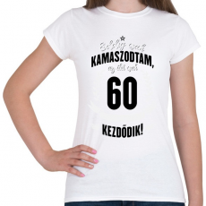 PRINTFASHION kamasz-60-black-white - Női póló - Fehér