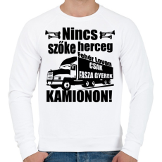 PRINTFASHION kamionos fekete - Férfi pulóver - Fehér