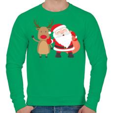 PRINTFASHION Karácsony - Férfi pulóver - Zöld