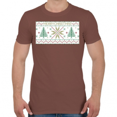 PRINTFASHION Karácsony mintázat - Férfi póló - Mogyoróbarna