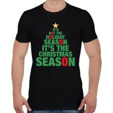 PRINTFASHION Karácsonyi szezon - Férfi póló - Fekete
