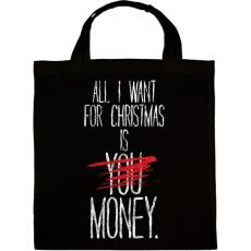 PRINTFASHION Karácsonyra szeretném... - Vászontáska - Fekete
