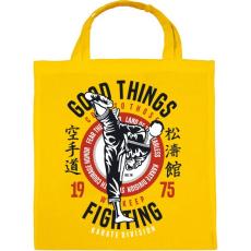 PRINTFASHION Karate divízió - Vászontáska - Sárga