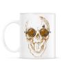 PRINTFASHION Kávés koponya - Bögre - Fehér