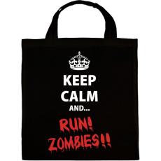 PRINTFASHION Keep calm and RUN! Zombies!! - Vászontáska - Fekete