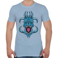 PRINTFASHION Kék ördög - Férfi póló - Világoskék