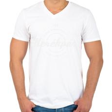 PRINTFASHION kerekpar-white - Férfi V-nyakú póló - Fehér