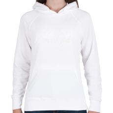 PRINTFASHION kerekpar-white - Női kapucnis pulóver - Fehér