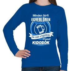 PRINTFASHION Kidobó - Női pulóver - Királykék