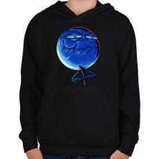 PRINTFASHION Kihívás elfogadva - Gyerek kapucnis pulóver - Fekete