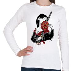 PRINTFASHION Kínai hercegnő - Női hosszú ujjú póló - Fehér