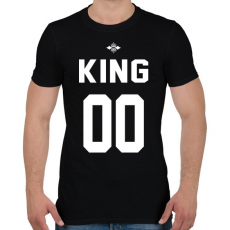 PRINTFASHION KING 00 - Férfi póló - Fekete