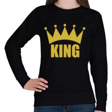 PRINTFASHION KING - Női pulóver - Fekete