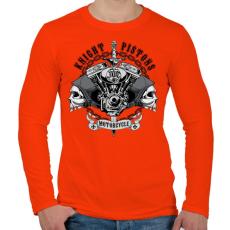 PRINTFASHION Király dugattyúk - Férfi hosszú ujjú póló - Narancs