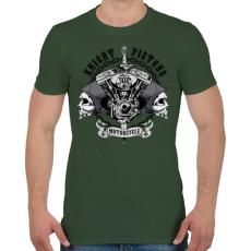 PRINTFASHION Király dugattyúk - Férfi póló - Katonazöld